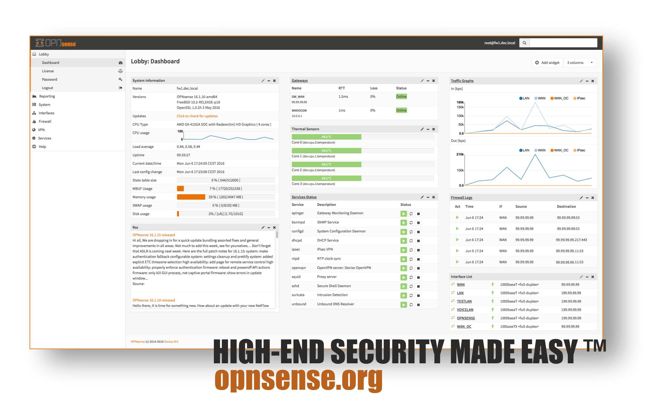 OPNsense 16 1 16 released - OPNsense, Your Next Open Source Firewall